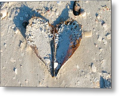 Heart On The Beach Metal Print
