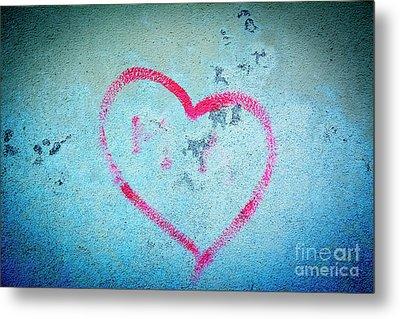 Heart Shape On A Wall Metal Print