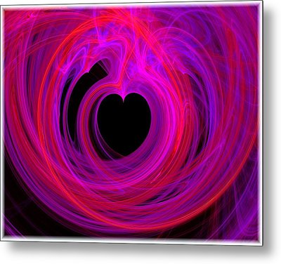 Heart Swirls Metal Print by Mary Morawska