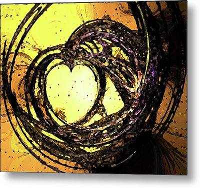 Heart Waves Metal Print by Mary Morawska