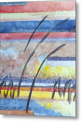 Metal Print featuring the painting Heartbeat by Jacqueline Athmann
