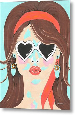Metal Print featuring the painting Heartbreaker by Kathleen Sartoris