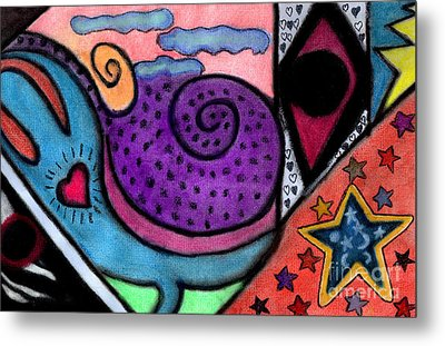 Metal Print featuring the mixed media Heartfelt by Christine Perry