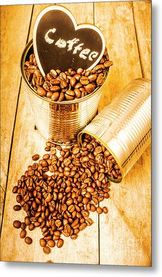 Hearts And Cafe Beans Metal Print by Jorgo Photography - Wall Art Gallery