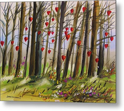 Hearts At Dusk Metal Print by John Williams