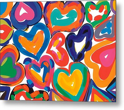 Hearts In Motion Metal Print