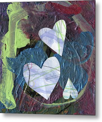 Hearts Metal Print by Michelle Dooley and Kaya Paxman