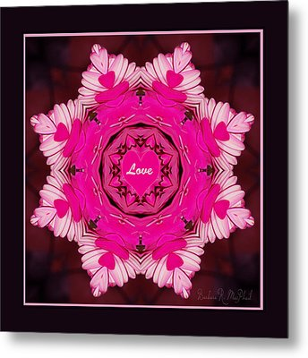 Metal Print featuring the photograph Hearts Of Love by Barbara MacPhail