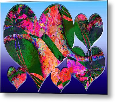 Hearts Together Metal Print by Contemporary Art