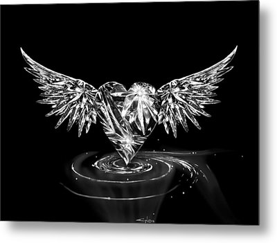 Heartwing Crystal Metal Print