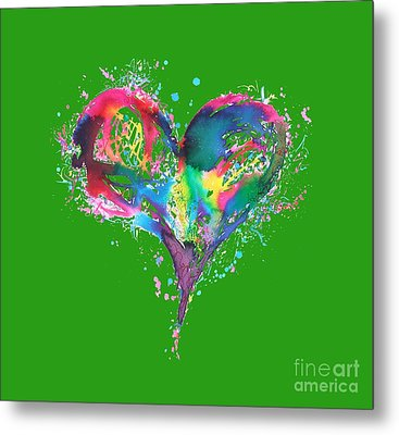 Hearts 6 T-shirt Metal Print by Herb Strobino