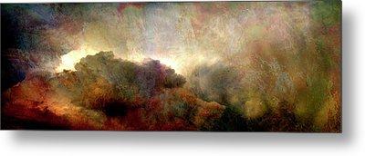 Heaven And Earth - Abstract Art Metal Print