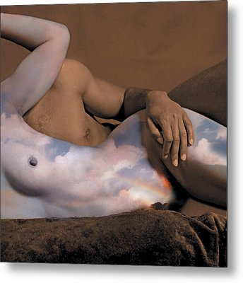 Heaven And Earth Metal Print by Fern Logan