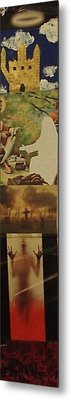 Heaven The Miracle Of The Loaves And Fishes/pillar Of Salt Death Limbo Hell Metal Print by William Douglas