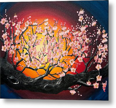 Heavenly Blossoms Metal Print by Olga Smith