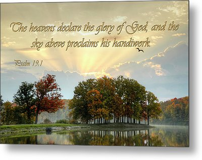 Metal Print featuring the photograph Heavenly Morning by Ann Bridges