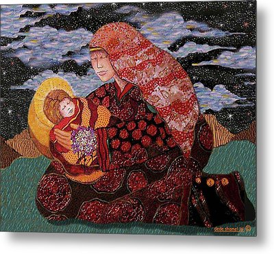 Heavenly Mother And Child Metal Print by Dede Shamel Davalos
