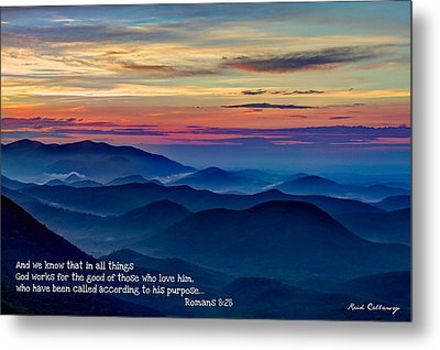 Heavenly View Sunrise And Faith Metal Print