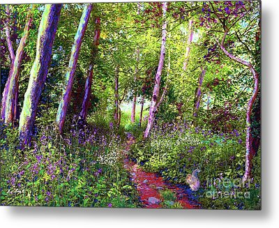Heavenly Walk Among Birch And Aspen Metal Print