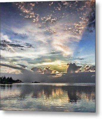 Heaven's Light - Coyaba, Ironshore Metal Print by John Edwards
