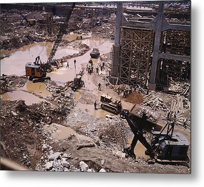 Heavy Equipment In The Mud Of Tennessee Metal Print by Everett