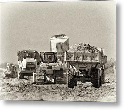 Heavy Equipment Meeting Metal Print