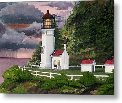 Heceta Head Lighthouse Metal Print by James Lyman