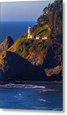 Heceta Head Oregon Lighthouse Metal Print by Garry Gay