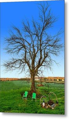 Hedge Apple Tree Metal Print