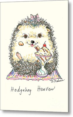 Hedgehog Heaven Metal Print