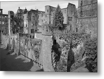 Metal Print featuring the photograph Heidelberg Castle Behind The Scenes by Corinne Rhode