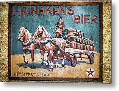 Heineken's Beer The Most Tapped Metal Print by Joan Carroll