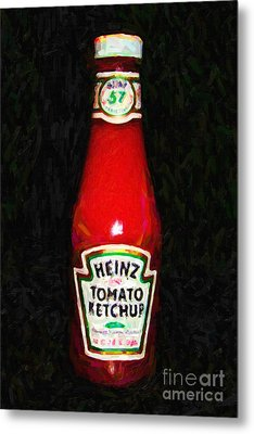 Heinz Tomato Ketchup Metal Print by Wingsdomain Art and Photography