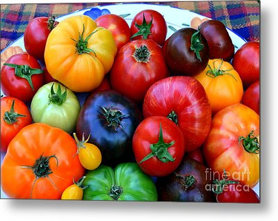 Metal Print featuring the photograph Heirloom Tomatoes by Vivian Krug