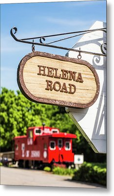 Metal Print featuring the photograph Helena Road Sign by Parker Cunningham
