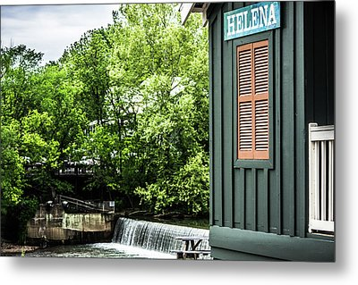 Metal Print featuring the photograph Helena Sign By Buck Creek by Parker Cunningham
