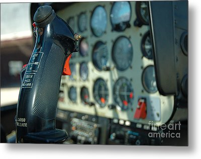 Helicopter Cockpit Metal Print
