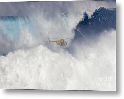 Helicopter Films Tow-in Surf Metal Print by Dave Fleetham - Printscapes