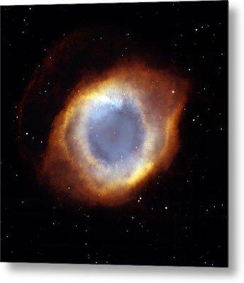 Helix Nebula, Hst Image Metal Print by Nasaesastscit.rector, Nrao