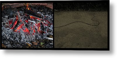 Hell Metal Print by James W Johnson