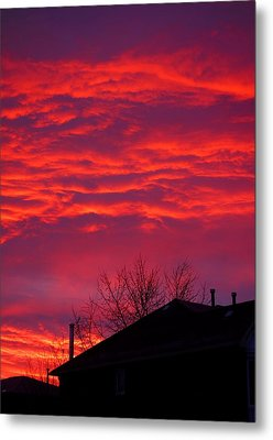 Metal Print featuring the photograph Hell Over Ontario by Valentino Visentini