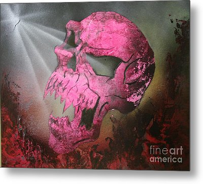 Metal Print featuring the painting Hell by Tbone Oliver