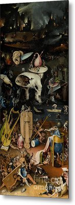 Hell    The Garden Of Earthly Delights Metal Print