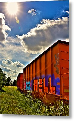 Hell Train Metal Print by William Wetmore