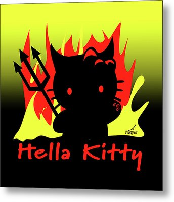 Hella Kitty Metal Print