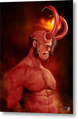 Hellboy Metal Print by Jason Longstreet