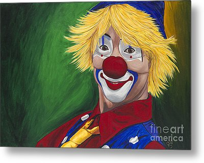 Hello Clown Metal Print by Patty Vicknair