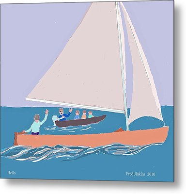 Hello Metal Print by Fred Jinkins