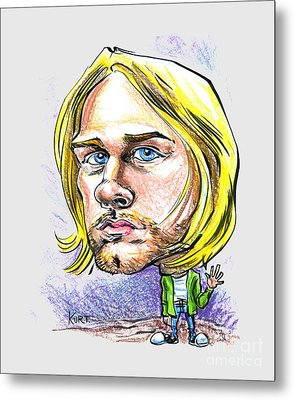 Hello Kurt Metal Print by John Ashton Golden
