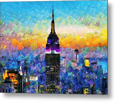 Hello New York Metal Print by Sir Josef - Social Critic -  Maha Art